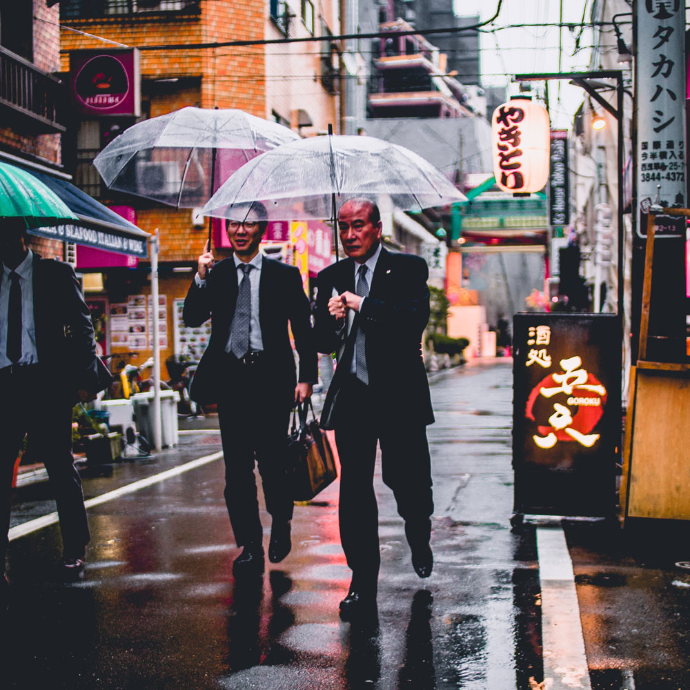 business men in japan